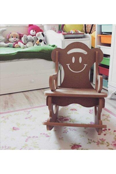 Köklü Tasarım Ahşap Sallanır Sandalye