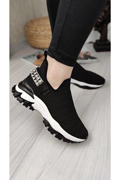 Markopark Tessa Kadın Spor Ayakkabı Triko Siyah