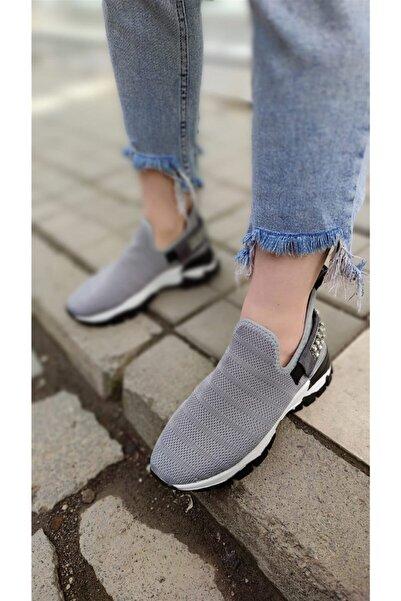 Markopark Tessa Kadın Spor Ayakkabı Triko Gri