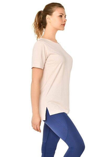 bilcee Kadın Bej T-shirt Is-9242