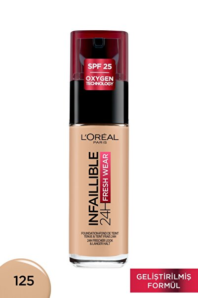 L'Oreal Paris L'oréal Paris Infaillible 24h Fondöten 125 Natural Rose