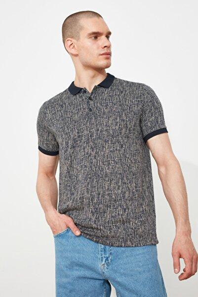 TRENDYOL MAN Bej Erkek Slim Fit Kısa Kollu Polo Yaka T-shirt TMNSS21PO0224