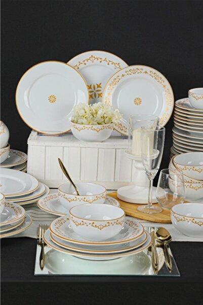Keramika Altın Yaldız 48 Parça 12 Kişilik Yemek Takımı