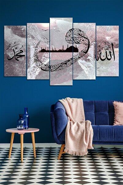 Evimona 5 Parçalı Allah Muhammed Vav Mdf Tablo