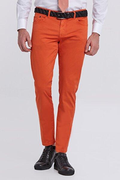 Hemington Erkek Slim Fit Turuncu 5 Cep Yazlık Pantolon