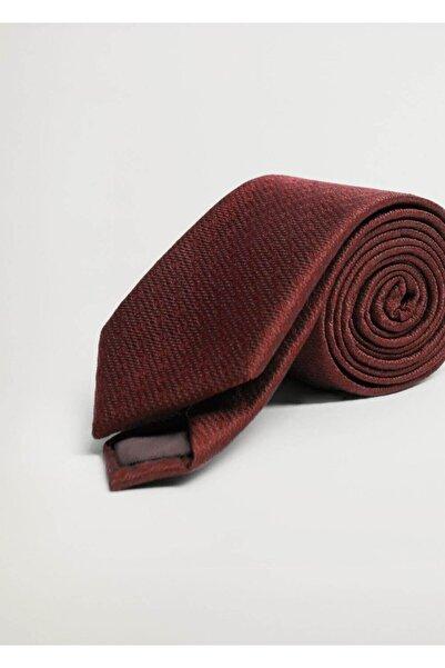 MANGO Man Erkek Kırmızı Geometrik Baskılı Kravat