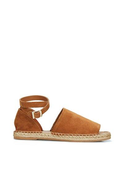 Dıvarese Kadın Taba Hasır Tabanlı Sandalet