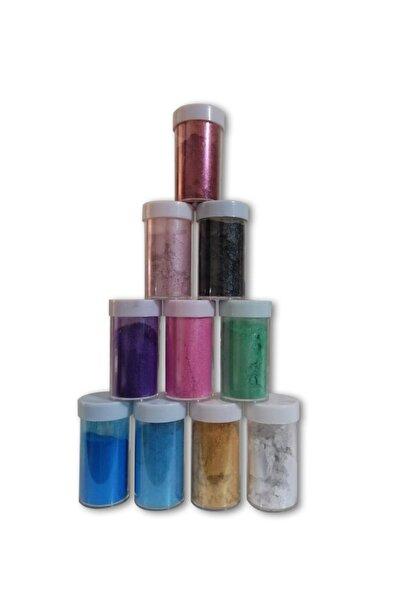 stonechem Epoksi Bazlı Sedefli Toz Pigment Seti 10 Renk 10 gr