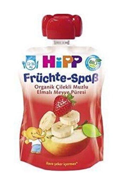 Organik Armutlu Muzlu Elmalı Meyve Püresi 90 gr