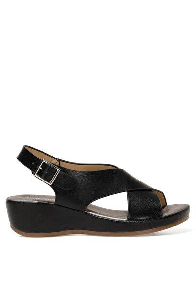 Nine West DANBIA 1FX Siyah Kadın Dolgu Topuklu Sandalet 101015734
