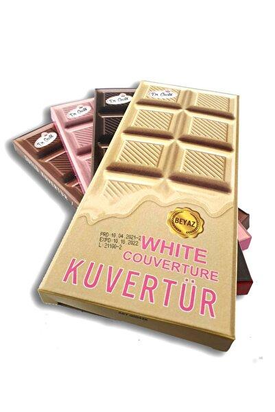 Dekamis Kuvertür 4 Lü Çikolata / Dr. Gusto Bitter, Sütlü,beyaz, Frambuaz Çikolatalar 200 Gr. X 4