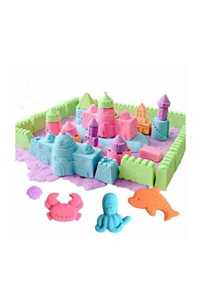 Apiko Shop Kinetik Oyun Kumu 4 Renk 2 Kg Ve 6 Adet Kum Kalıbı(sihirli Kum,terapi Kumu)