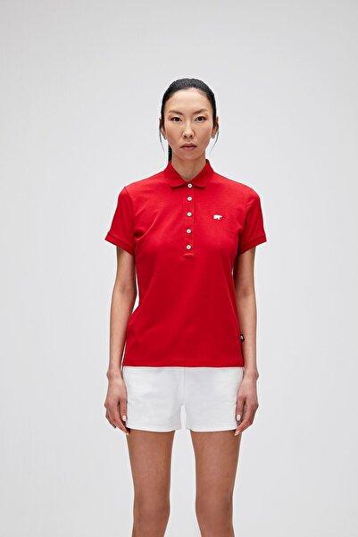 Bad Bear Kadın Parlak Kırmızı T-Shirt