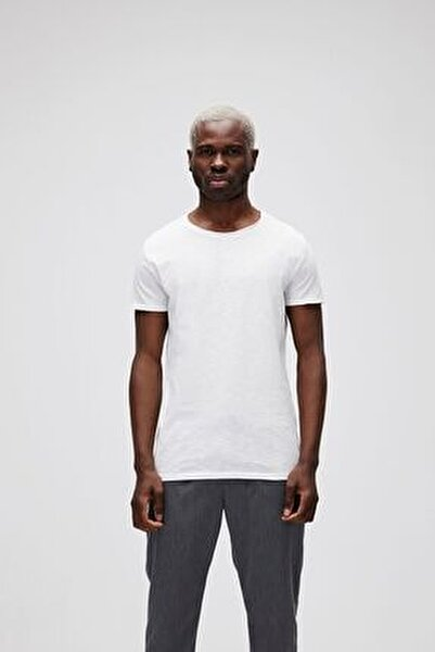 Erkek Beyaz O-neck Tişört
