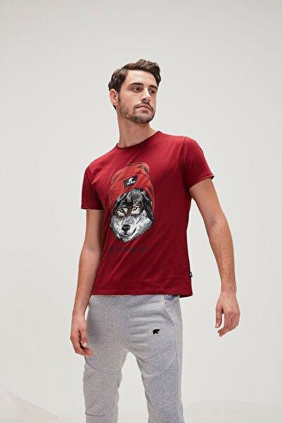 Bad Bear Bordo Erkek Tişört RED HOOD TEE MAROON