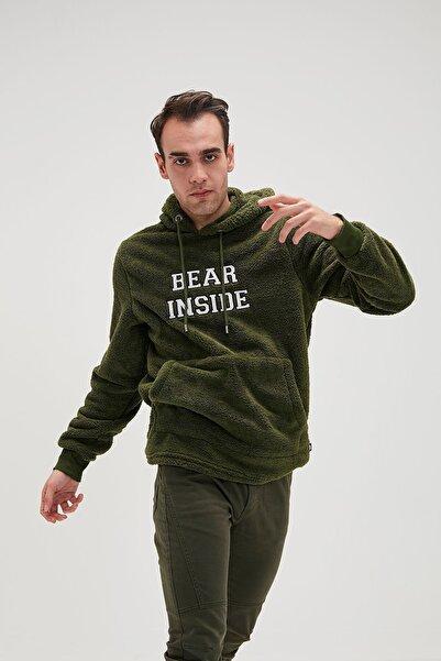 Bad Bear Erkek Haki Bear Plush Forest Sweatshirt