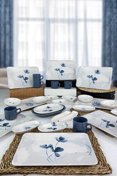 Keramika Blue Magic 29 Parça 6 Kişilik Siera Kahvaltı Takımı - 19863