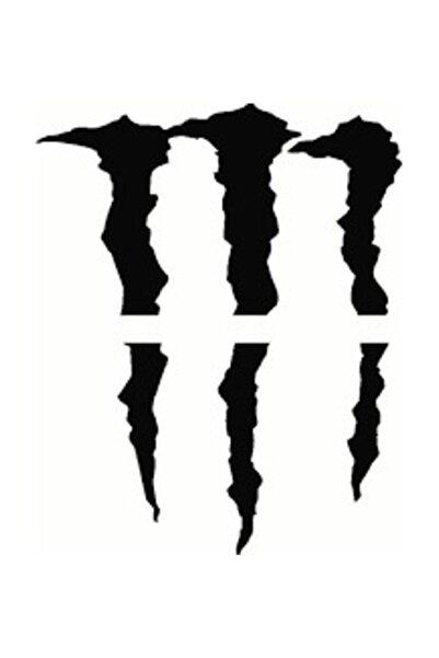 StickerAVM Monster Pençe Siyah Oto Sticker Far Sticker Araba Sticker 20cm*17cm