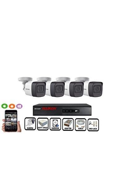 Haikon 4 Kameralı Güvenlik Paket Set Hdd Dahil Gece Görüşlü Eksiksiz Paket