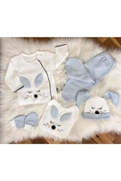 Erkek Bebek Beyaz Bebek 5'li Hastane Çıkışı Seti 100763