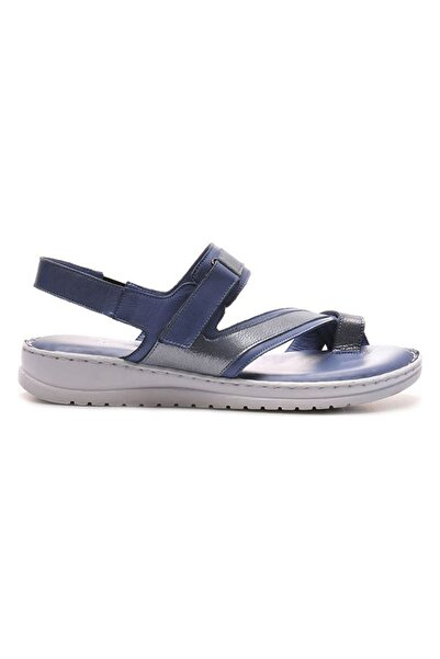 Bulldozer Kadın Mavı Deri Sandalet 211635