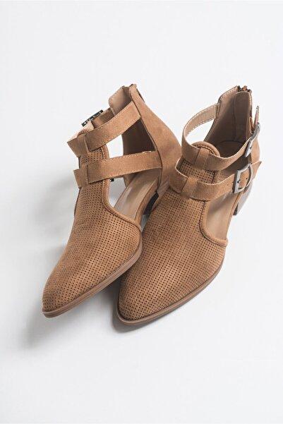 LuviShoes 9 Camel Suet Kadın Ayakkabı