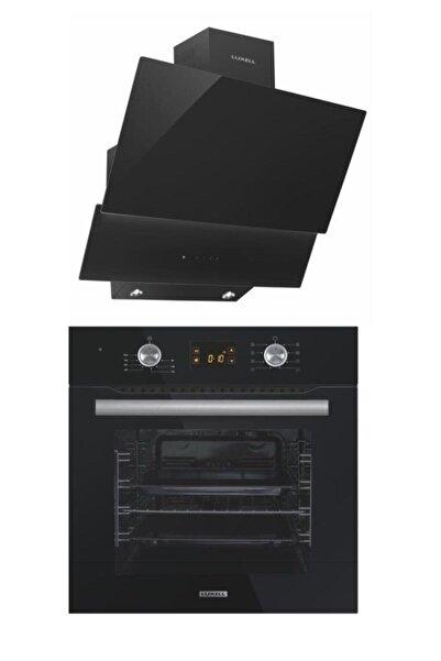Luxell 2'li Ankastre Set (B66-sf2 Ddt Dokunmatik Dijital Siyah Fırın- Da6-835 Siyah Davlumbaz)