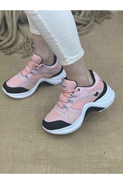 Twingo Kadın Spor Ayakkabı 601 - Pudra / Siyah