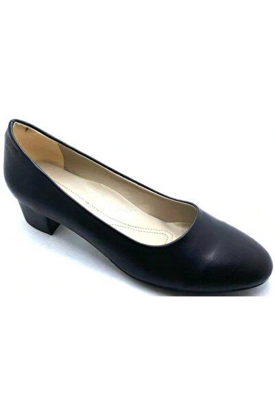 Alens Siyah Fındık Topuk 41-42 Büyük Numara Ayakkabı
