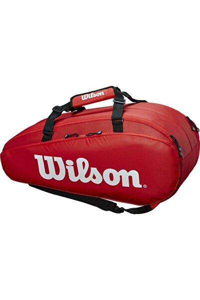 Wilson Tour 3 Comp 15'li Raket Ve Tenis Çantası Kırmızı Wrz847915