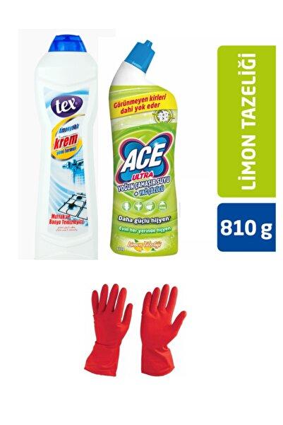 ACE Yoğun Çamaşır Suyu&yağ Çözücü + Amonyaklı Krem + Temizlik Eldiveni