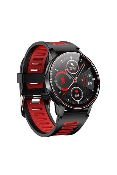 Yukka Unisex Kırmızı Dokunmatik Su Geçirmez Spor Akıllı Bileklik L6 Rosso