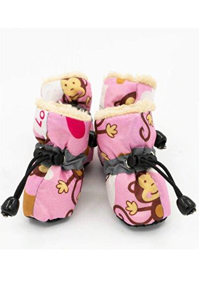 Pineapple Pembe Renkli Suya Dayanıklı Köpek Ayakkabısı Kaymaz Taban Maymunlu Köpek Ayakkabısı
