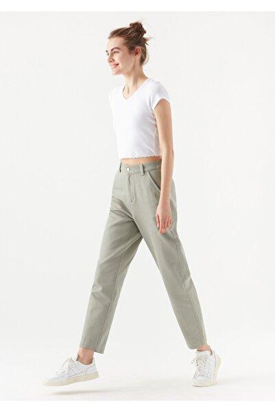 Mavi Kadın Gri Beli Lastikli Pantolon