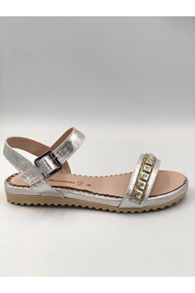 PUNTO Kadın Gümüş Renk Sandalet