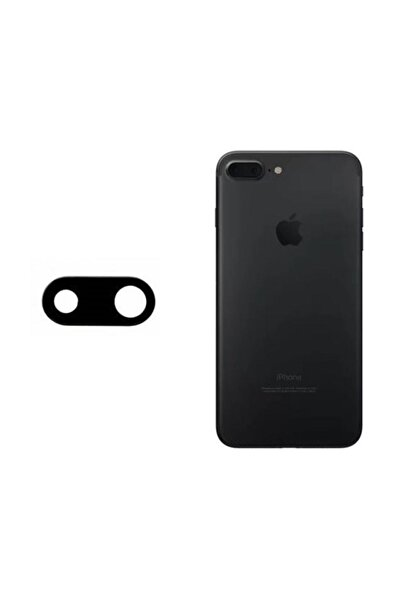 EgeTech Iphone 7 Plus Uyumlu Kamera Camı Lens Siyah