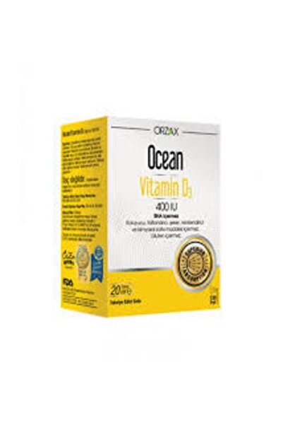 Ocean Vitamin D3 400 Iu Oral Sprey 20 ml