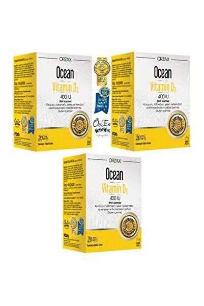 Ocean Ocean Vitamin D3 400 Iu 20 Ml 3 Lü Paket