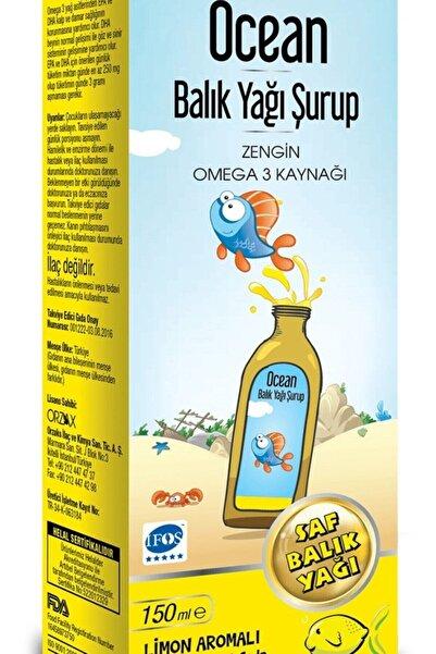 Ocean Ocean Şurup Limon Fish Oil  Limon Aromalı Balık Yağı 150 ml