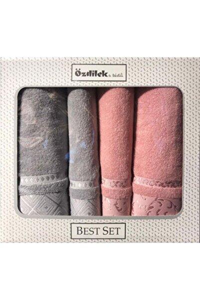Özdilek Serene Best Set (hamam Takımı) Pembe-gri