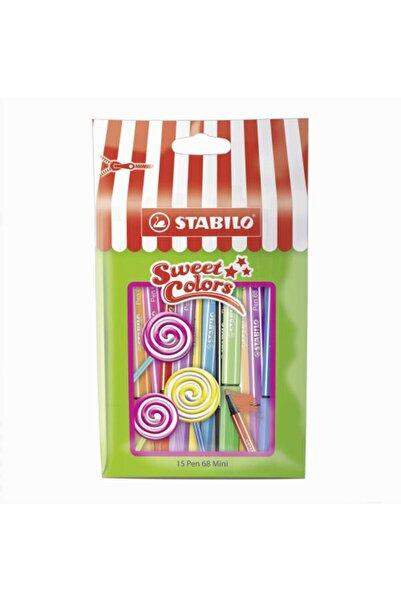 Stabilo Pen 68 Mini Sweet Colors 15'li Keçeli Kalem Seti
