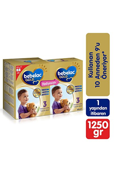 Bebelac Gold 3 Çocuk Devam Sütü 900 gr + 350 gr
