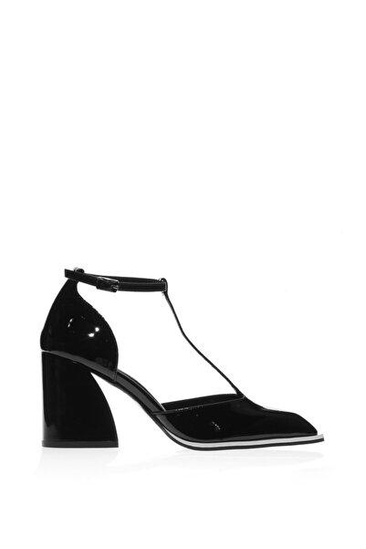 Cengiz Gümüş Kadın Siyah Rugan Bantlı Dans  Ayakkabısı