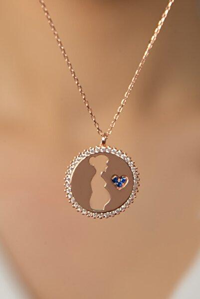 Elika Silver Kadın Hamile Anne Model 925 Ayar Gümüş Kolye