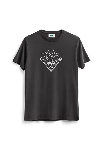 Outrail Unisex Antrasit Summer And Nature Baskılı T-shirt
