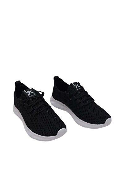 Venuma Unisex Siyah Taban Beyaz Spor Ayakkabı
