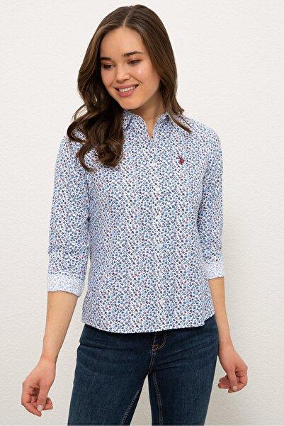 U.S. Polo Assn. Mavı Kadın Gömlek G082SZ004.000.1269416