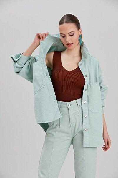 Y-London Kadın Mavi Kot Ceket YL-CE99975