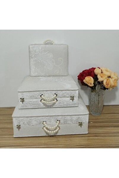 Sonem Çeyiz Söz Nişan Bohça Gelin Düğün Çeyiz Sandık 0560b 3lü Çanta