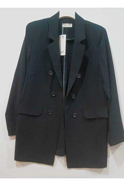 Ceylinn Kadın Siyah Astarlı Blazer Ceket